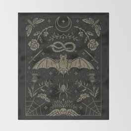 Cemetery Nights Throw Blanket