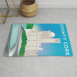 County Cork, Ireland - Skyline Illustration by Loose Petals Rug