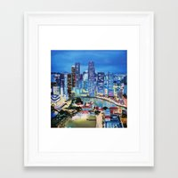singapore Framed Art Prints featuring Singapore by EmileeGraesser