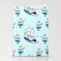ships Stationery Cards featuring Ships Pattern by Brooke Weeber