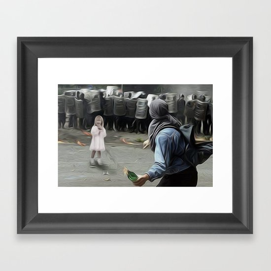 innocents takes no sides Framed Art Print