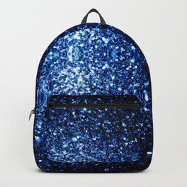 Beautiful Dark Blue glitter sparkles Backpack