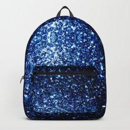 Beautiful Dark Blue glitter sparkles Backpack