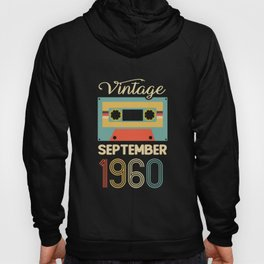 Vintage 60th Birthday September 1960 Sports Gift Hoody