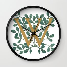 Forest Letter W Lite 2020 Wall Clock