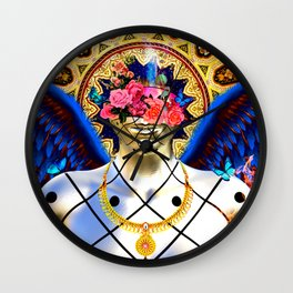 An Angel is burning in a holy surreal world Wall Clock