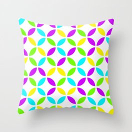 Citric fun colors circles design for home ornament. Throw Pillow