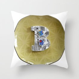 Love Letters to Dinnerware - B Throw Pillow