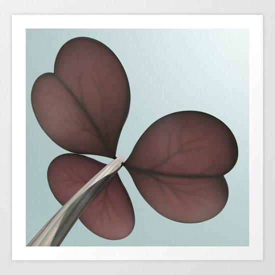 three leaf clover Art Print