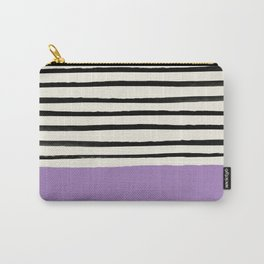 Lavender x Stripes Carry-All Pouch