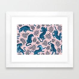 Blue asian tigers Framed Art Print