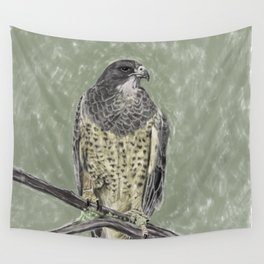 Black-chested buzzard-eagle (Geranoaetus melanoleucus) Wall Tapestry