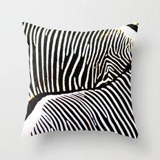 Abstract Zebra No. 2 Throw Pillow