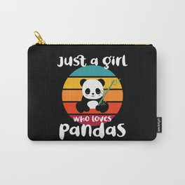 Girl who Loves Pandas Pet Animals Carry-All Pouch