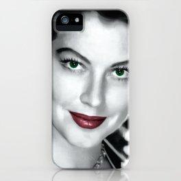 Ava Gardner Portrait #1 iPhone Case