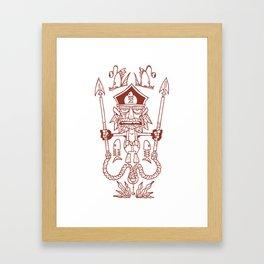 Captain Seabutcher Framed Art Print