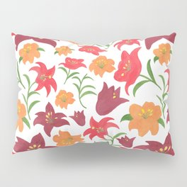 The Lilies in Red Pillow Sham