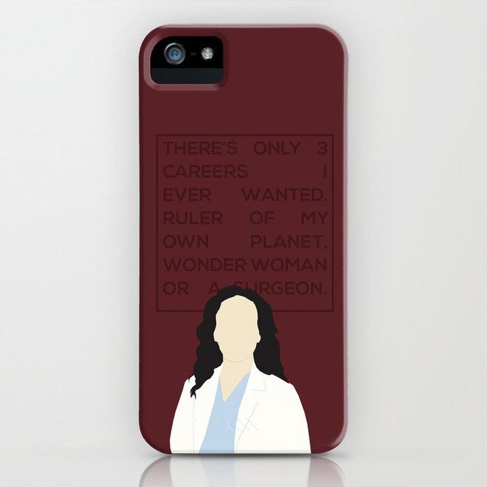 Greys Anatomy: Cristina Yang iPhone Case by hollyandthesunshine ...