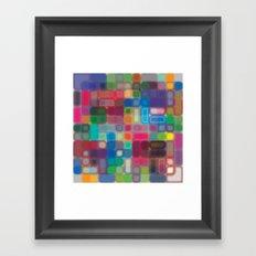 Square pattern Framed Art Print