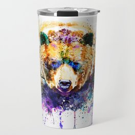 Colorful Grizzly Bear Travel Mug