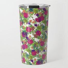 Retro Flowers Travel Mug