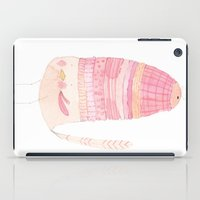 macaroon iPad Cases featuring Macaroon Layers Hat Bird by fluximagery