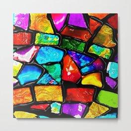 Colored Tile Mosiac - Jeanpaul Ferro Metal Print