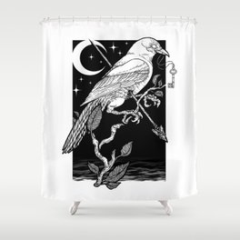 Night Crow Shower Curtain