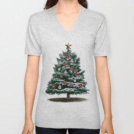 Christmas Tree by Chrissy Unisex V-Neck