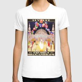 Seville Hispano American Expo 1929 art deco ad T-shirt