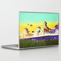 manga Laptop & iPad Skins featuring Manga wallpaper by Alphonse Chèvre
