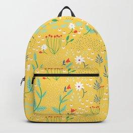 Mustard Botanical Floral Backpack