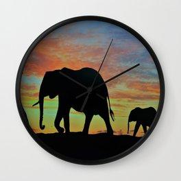 Elefants Wall Clock