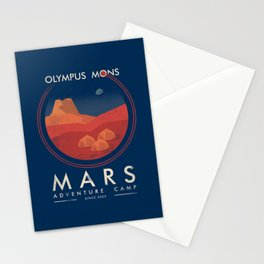 Mars adventure camp Stationery Cards