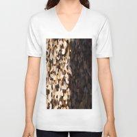 dark side V-neck T-shirts featuring Dark side by Fox Industries