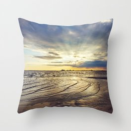 Gulf Coast Shoreline Throw Pillow