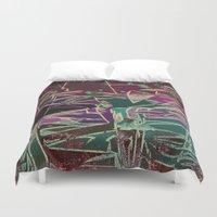 batik Duvet Covers featuring Batik Cave by Glanoramay