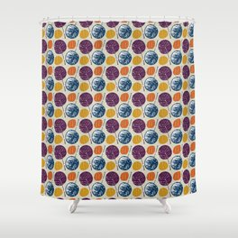 Leaves and yarns Shower Curtain