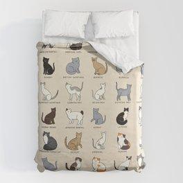 Cat Breeds Duvet Cover