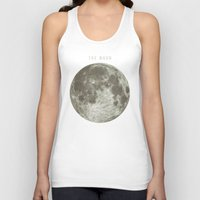 astronomy Tank Tops featuring The Moon  by Terry Fan