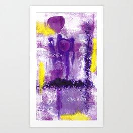 Purple Abstract 2 Art Print