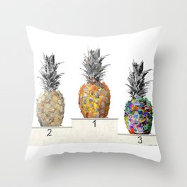 Top Pineapple 01 Throw Pillow