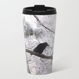 Winter crow. Travel Mug