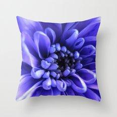 Macro Blue Throw Pillow