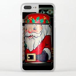 An Aside Glance Santa Clear iPhone Case