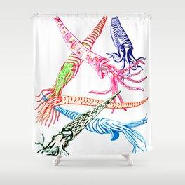 Baculites Shower Curtain