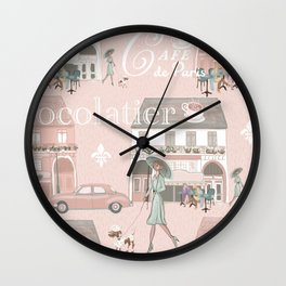La France Cafe for Coffee! Wall Clock