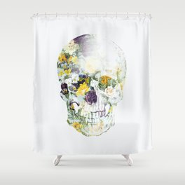 Skull Bouquet B Shower Curtain
