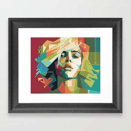 Scarlett Johansson - Mad4U Framed Art Print