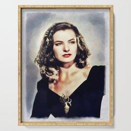 Ella Raines, Vintage Actress Serving Tray